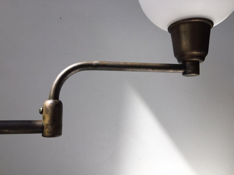 Bauhaus Danish Architect Table Lamp in Brass by Fog & Mørup, 1930s For Sale