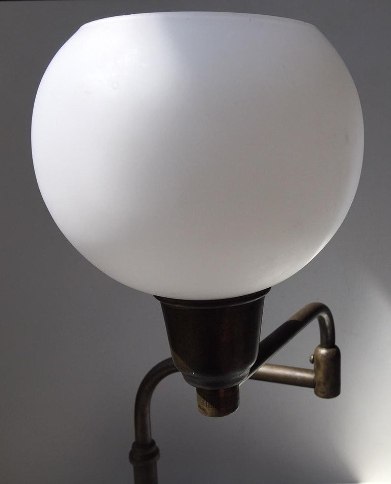 Mid-20th Century Danish Architect Table Lamp in Brass by Fog & Mørup, 1930s For Sale