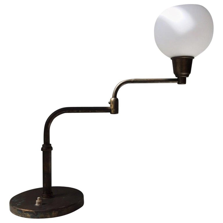 Danish Architect Table Lamp in Brass by Fog & Mørup, 1930s For Sale