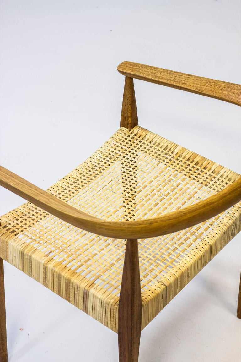 Rattan Danish Armchair No 113 by Nanna Ditzel, 1950s For Sale