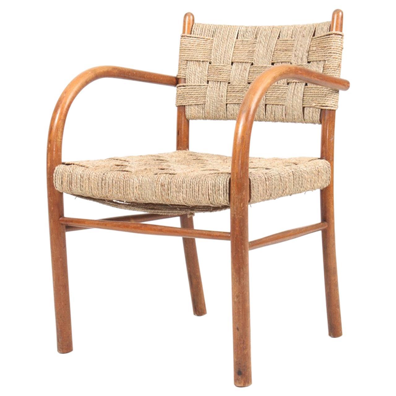 Danish Armchair by Frits Schlegel, Made in Denmark, 1940s