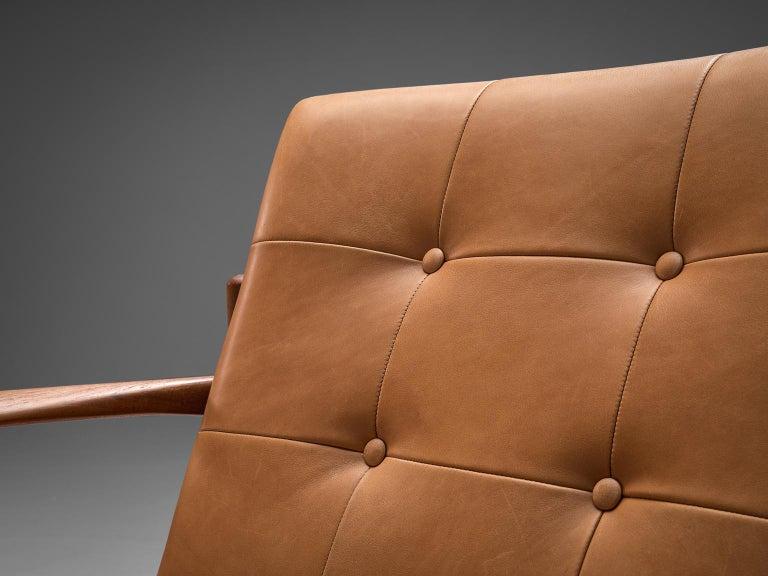 Danish Armchair in Cognac Leather For Sale 2