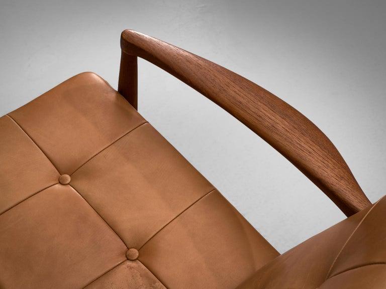 Danish Armchair in Cognac Leather For Sale 3
