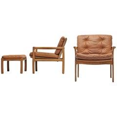 Danish Armchair in Cognac Leather