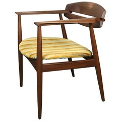 Mid Century Modern Armchair in Rosewood and Fabric by Bramin of Denmark, 1959