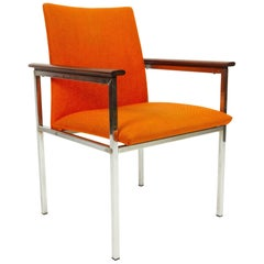 Danish Armchair with Teak Armrests by Sigvard Bernadotte for France & Søn, 1960s