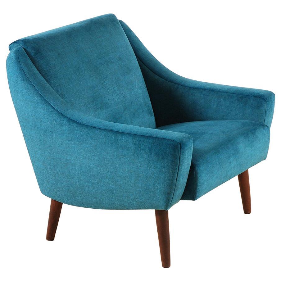 Danish Armchair with Teak Feet, 1960s