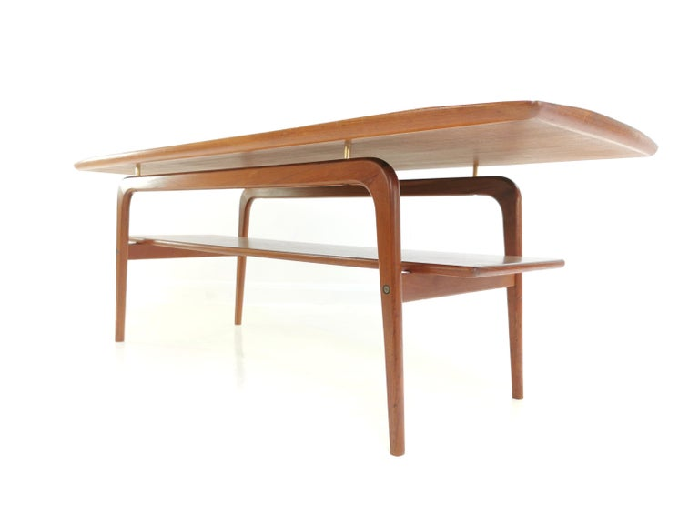 Danish Arne Hovmand Olsen Teak Midcentury Coffee Table 5