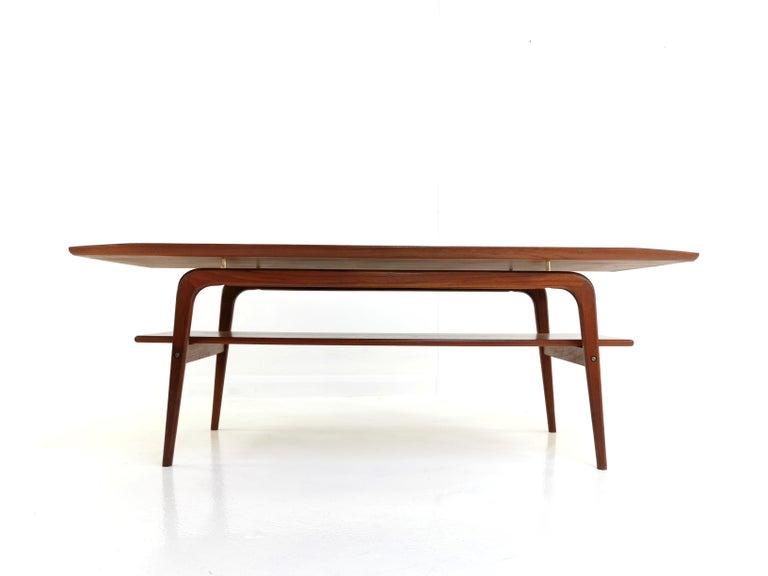 Danish Arne Hovmand Olsen Teak Midcentury Coffee Table 8