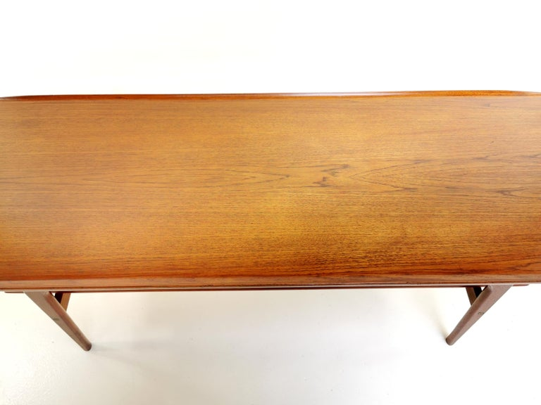 20th Century Danish Arne Hovmand Olsen Teak Midcentury Coffee Table