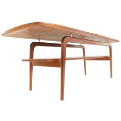 Danish Arne Hovmand Olsen Teak Midcentury Coffee Table