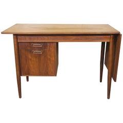 Danish Arne Vodder Designed Teak Drop-Leaf Desk