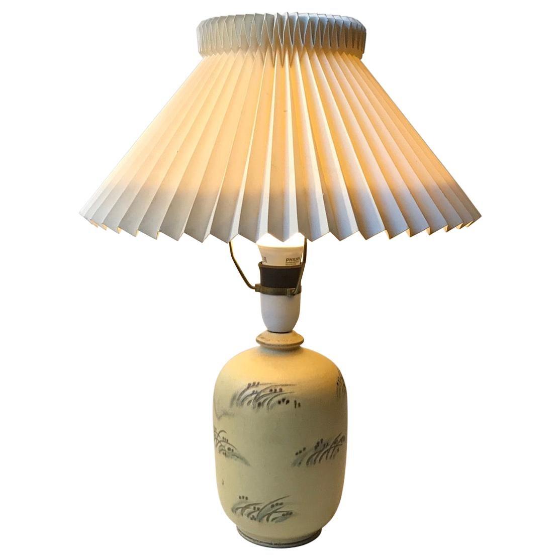 Danish Art Deco Ceramic Table Lamp from Knabstrup, 1930s