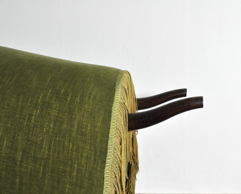 Danish Art Deco Chair in Green Velvet, 1920s-1930s For Sale 8