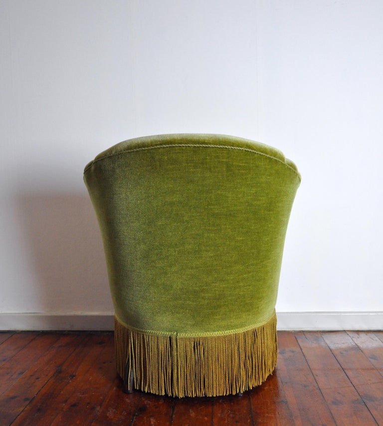 Danish Art Deco Chair in Green Velvet, 1920s-1930s For Sale 2