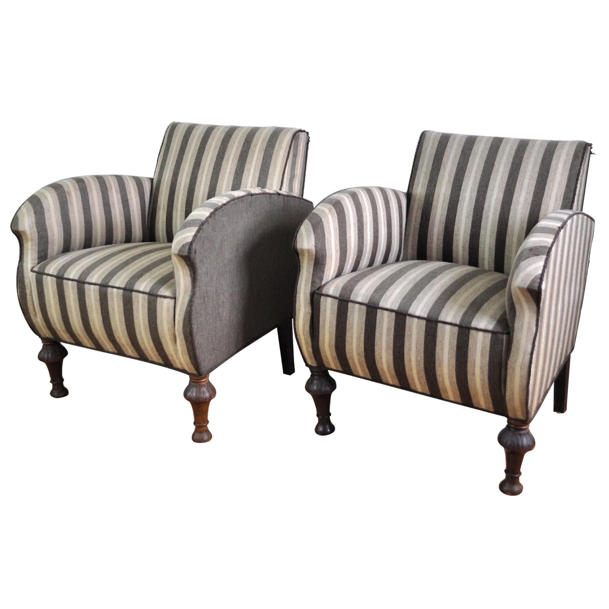 Danish Art Deco Club or Lounge Chairs, 1920s-1940s