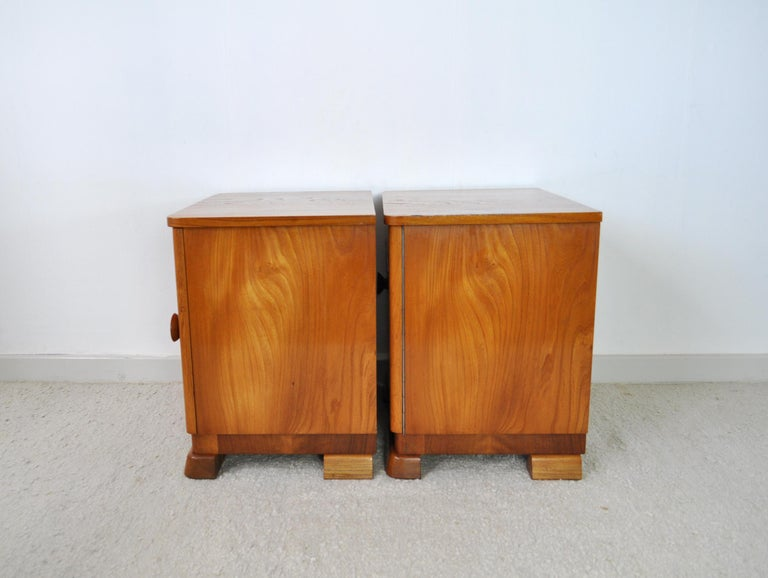 Danish Art Deco Pair of Nightstands or Small Cabinets, 1930s For Sale 7