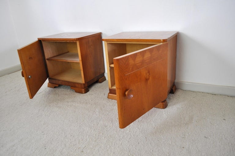 Danish Art Deco Pair of Nightstands or Small Cabinets, 1930s For Sale 3