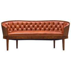 Danish Art Deco Sofa with Walnut Frame, 1920s