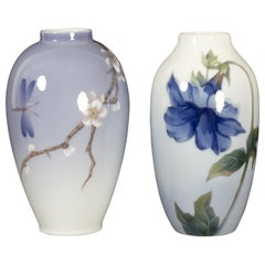 Danish Art Nouveau Porcelain Vases by Royal Copenhagen, 1960s