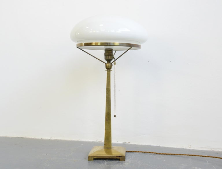 Danish Art Nouveau table lamp, circa 1910