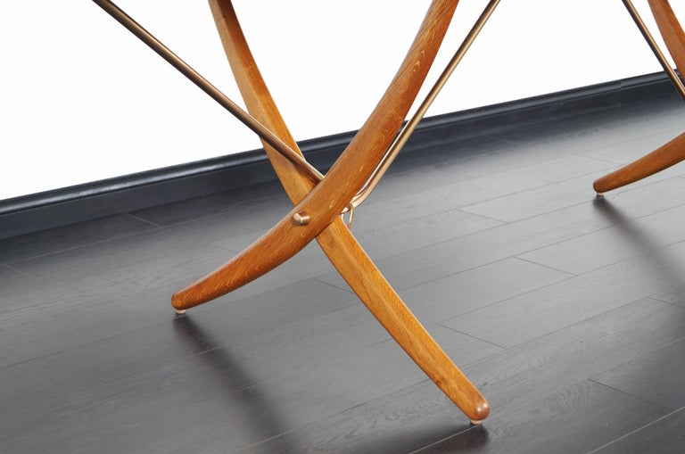 Danish AT-304 Dining Table by Hans J. Wegner for Andrea Tuck For Sale 5