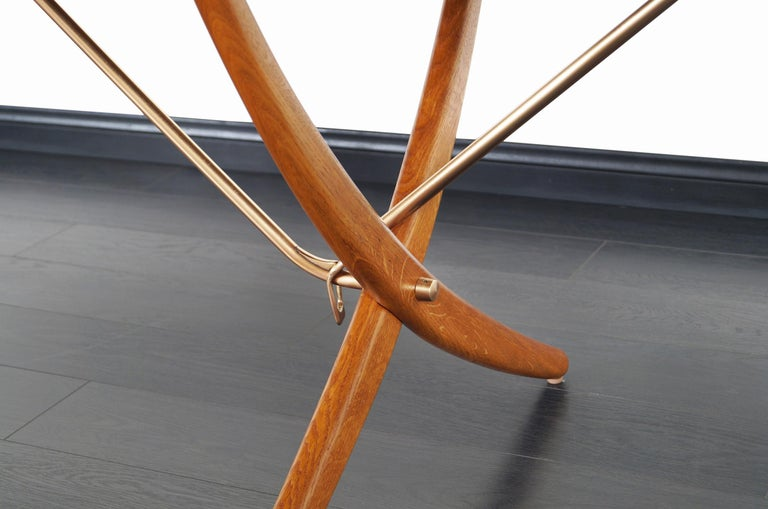 Danish AT-304 Dining Table by Hans J. Wegner for Andrea Tuck For Sale 1