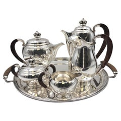 Danish Axel Salomonsen Sterling Silver 6-Piece Tea/ Coffee Set in Modern Style