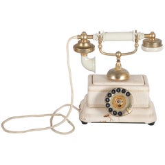 Danish Bakelite Table Phone from the 1940s