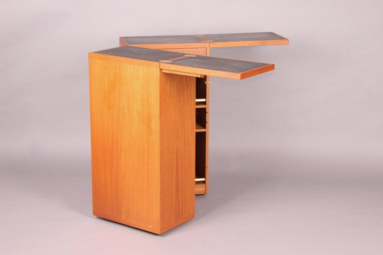 Danish bar cabinet by Reno Wahl Iversen for Dyrlund the two metal plates are missing.