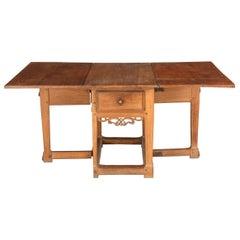 Danish Baroque Oakwood Dropleaf Table
