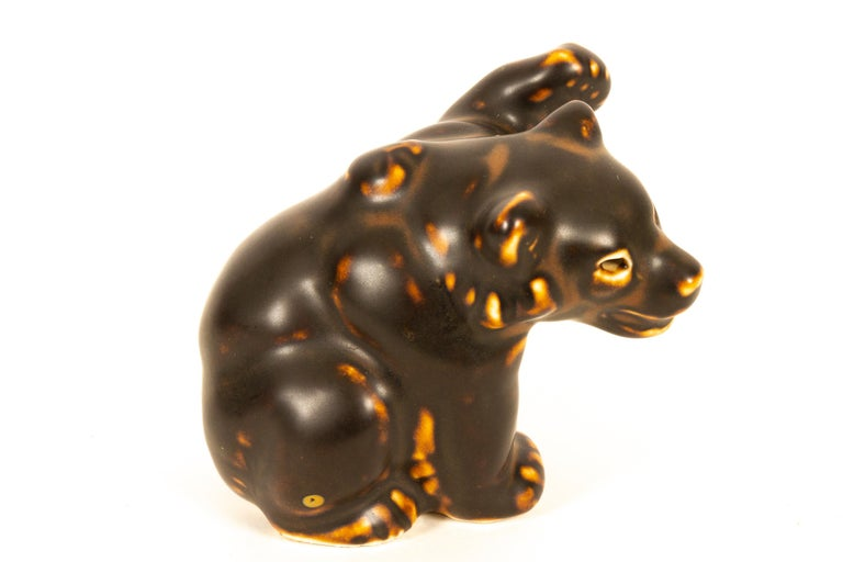 Danish Bear Cubs Figurines by Knud Kyhn for Royal Copenhagen, 1950s, Set of 4 For Sale 6