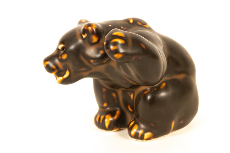 Danish Bear Cubs Figurines by Knud Kyhn for Royal Copenhagen, 1950s, Set of 4 For Sale 7