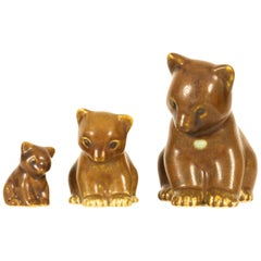 Danish Bear Figurines by Knud Basse 1950s, Set of 3