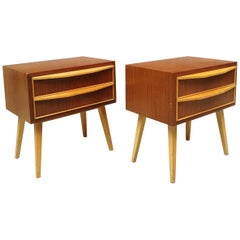 Danish Bedside Tables in Teak from 1960s