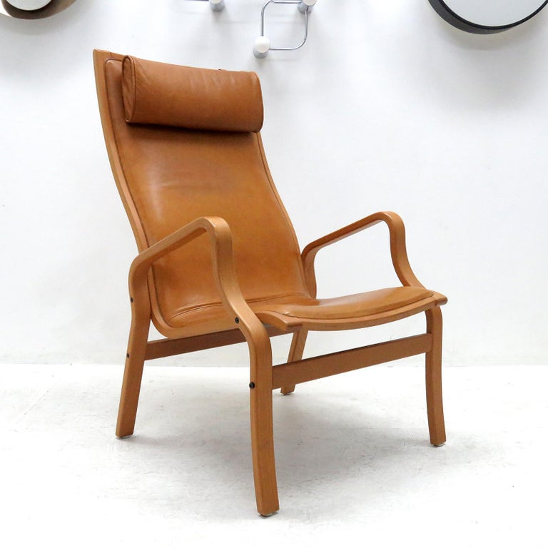 Danish Bentwood Leather Chairs at 1stdibs