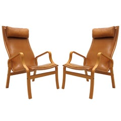 Danish Bentwood Leather Chairs