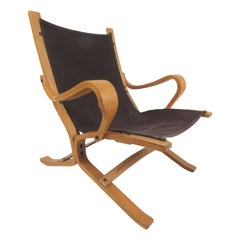 Danish Bentwood Teak Lounge Chair