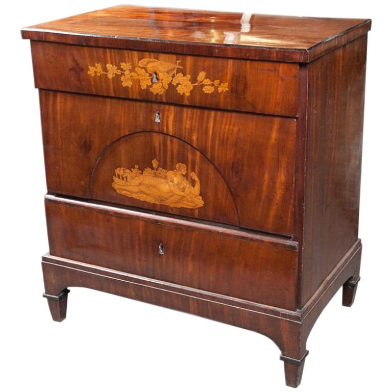 Danish Biedermeier Chest of Drawers For Sale