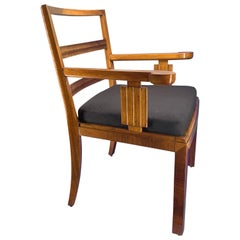 Danish Biedermeyer Birchwood Armchair