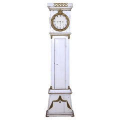 Danish Bornholm Mora Clock White Gold 1800s Antique 1 Owner Provenance Collector