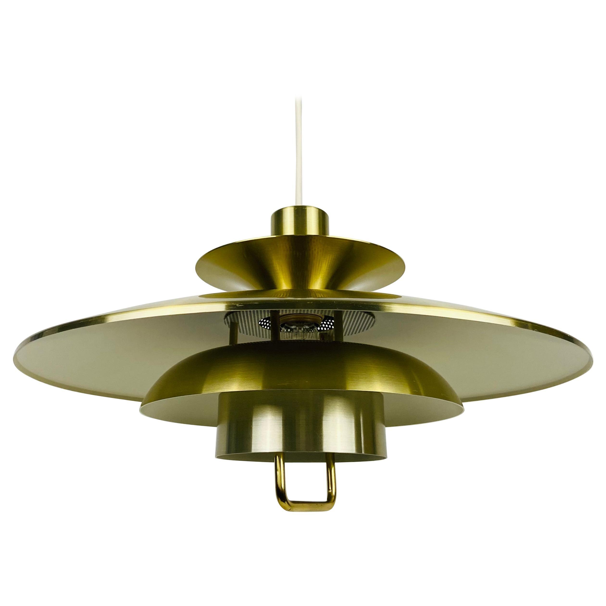 Danish Brass and Metal Pendant Lamp, 1960s