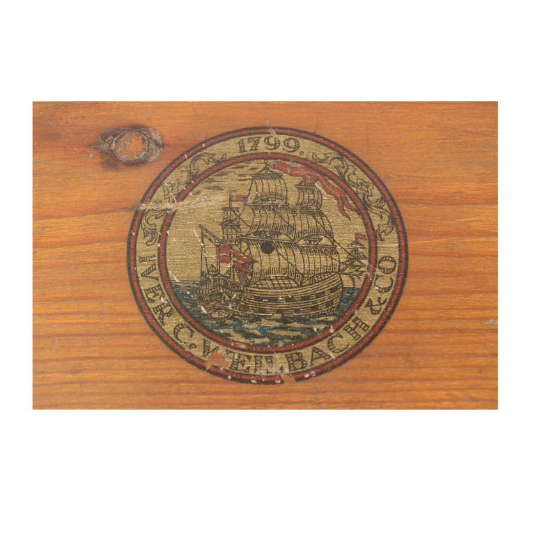 Danish Brass Compass in its Original Wooden Box, 1920s-1930s For Sale 11