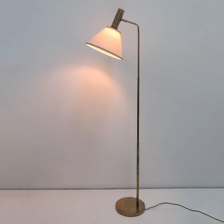 Danish Brass Floor Lamp by Bergboms For Sale 5