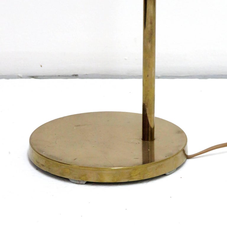 Mid-20th Century Danish Brass Floor Lamp by Bergboms For Sale