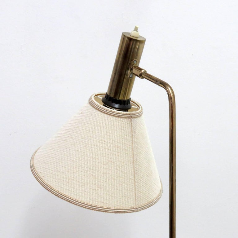 Danish Brass Floor Lamp by Bergboms For Sale 2