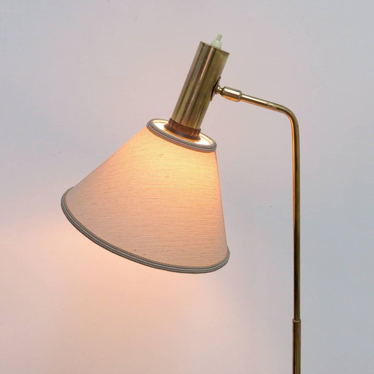 Danish Brass Floor Lamp by Bergboms For Sale 3