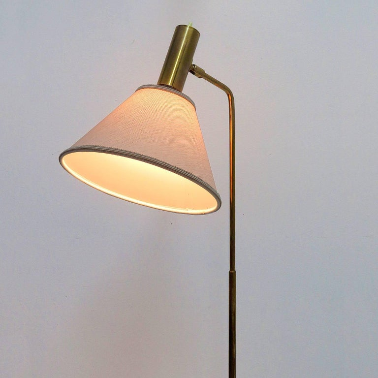 Danish Brass Floor Lamp by Bergboms For Sale 4