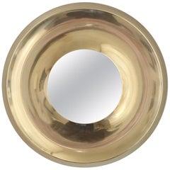 Danish Brass Mirror, circa 1970
