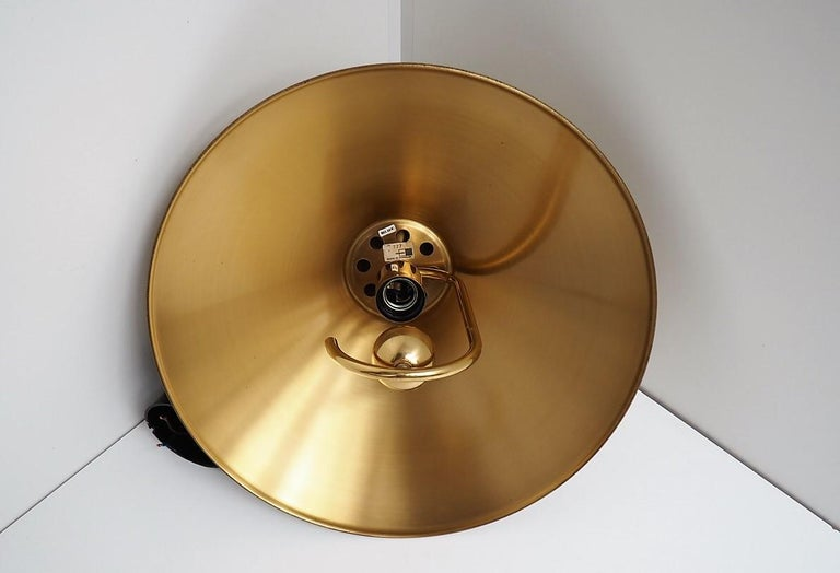 Danish Brass Pendant by Company Frandsen, Vintage Midcentury Design, 1970s In Good Condition For Sale In Spoettrup, DK